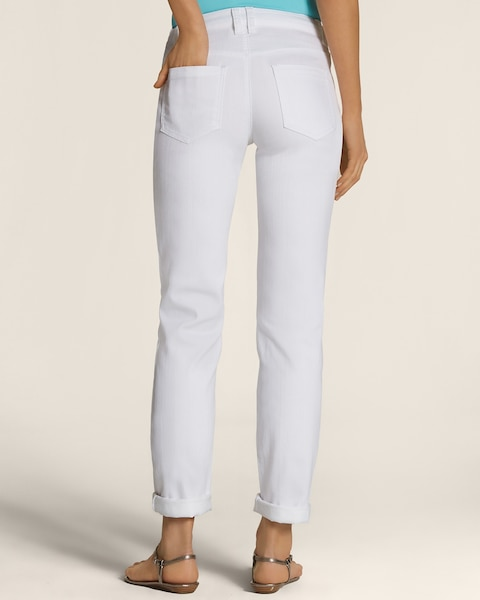 Platinum Denim Boyfriend Jeans in White Wash