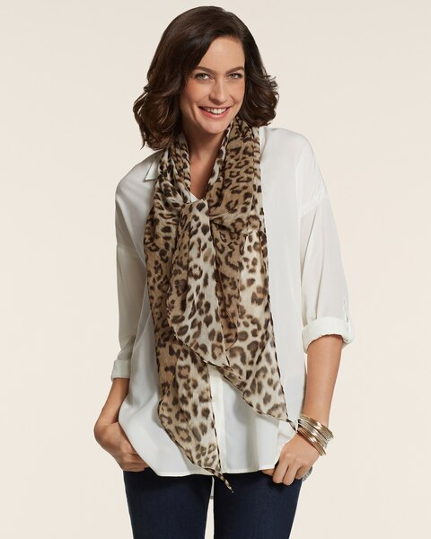 All Over Leopard Scarf