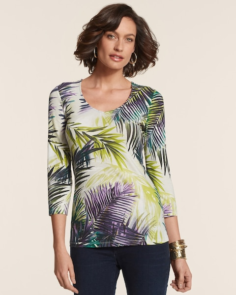 Luxe Leaves Smooth Valentina Top