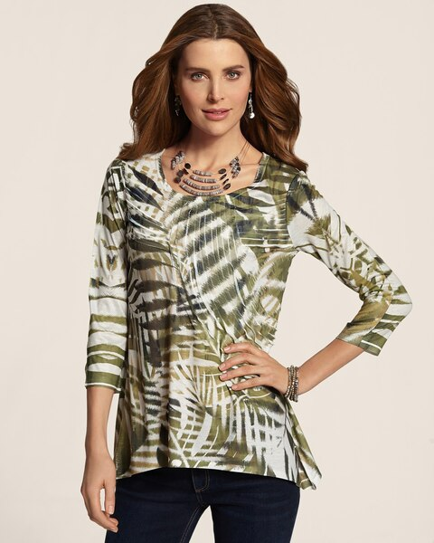 Natural Palm Texture Tibby Top