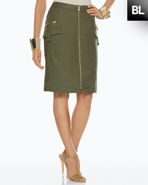 Utility Zipper Skirt