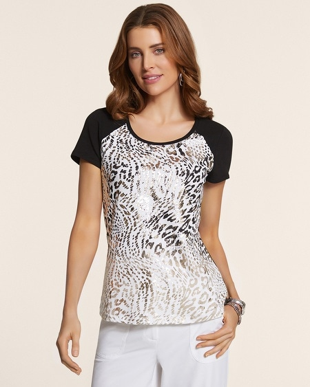 Tori Animal Foil Pocket Tee