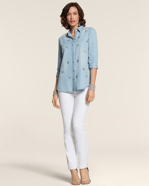 All Over Glitz Denim Doni Shirt