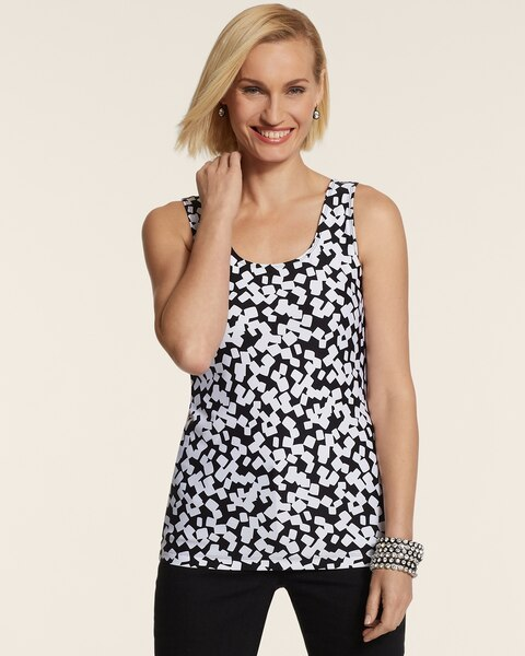 Tossed Boxes Contemporary Tank