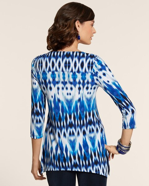 Watercolor Ikat Tunic