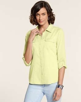 Split Back Utility Hannah Shirt