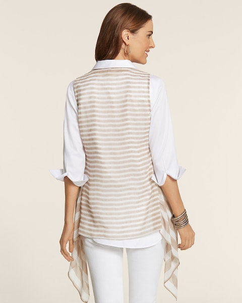 Sheer Stripe Darma Vest
