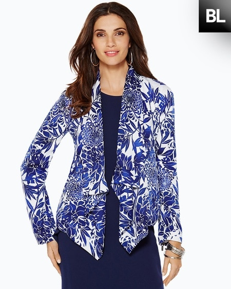 Black Label Printed Crossover Blazer
