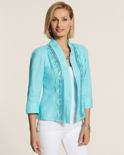 Beaded Cutout Jacket