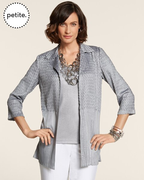 Petite Travelers Collection Dual Crushed Jacket