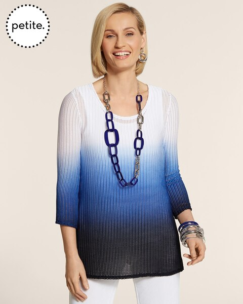Petite Travelers Collection Dip-Dye Tunic