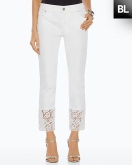 Black Label Lace Cuff Jeans