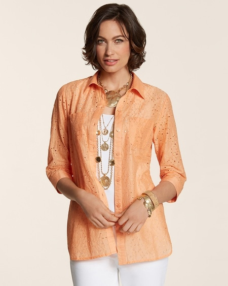 Eyelet Dreams Aubrie Shirt