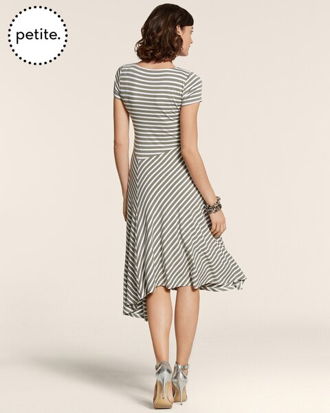 Petite Stripe Cayla Cap-Sleeve Dress