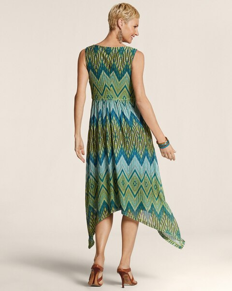 Maida Handkerchief Ikat Dress