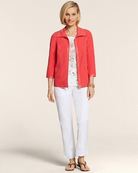Neema Embossed Trim Jacket