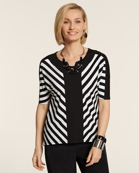 Opposite Stripes Cori Colorblock Top