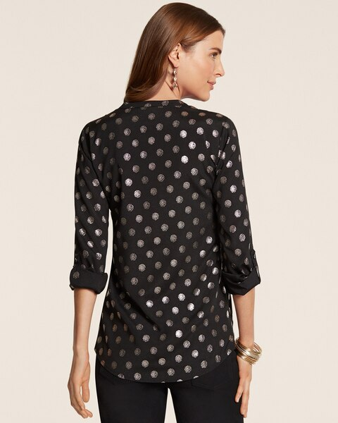 Silver Dot Veronica Top