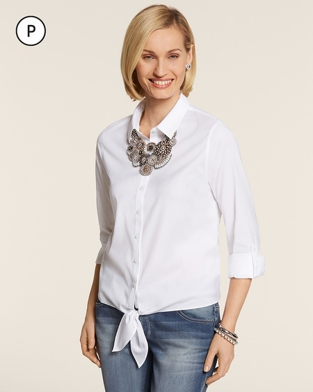 Petite Easy Cotton Tyree Shirt