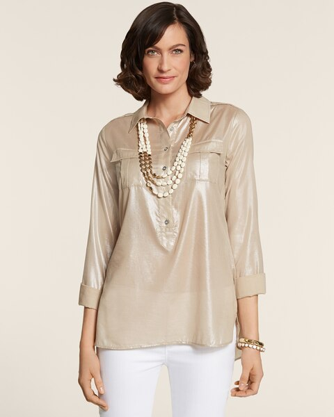 Metallic Utility Cherice Top