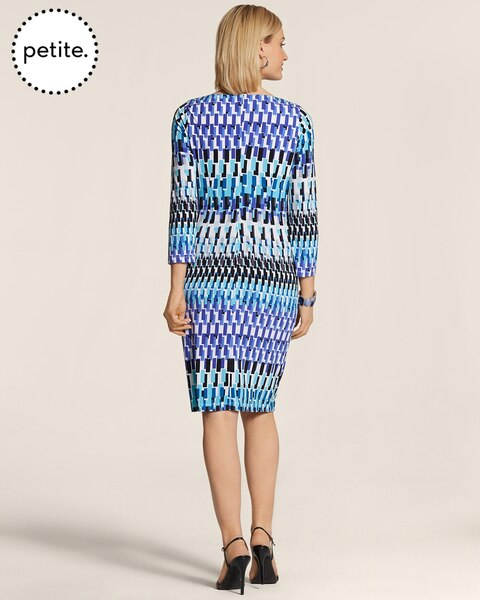 Petite Geometric Wave Raine Dress