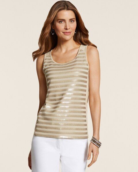Stella Striped Sequin Tank