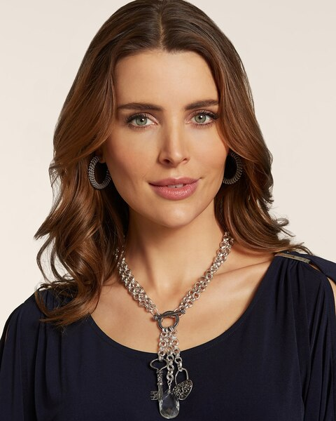 Beatrix Convertible Silver Necklace