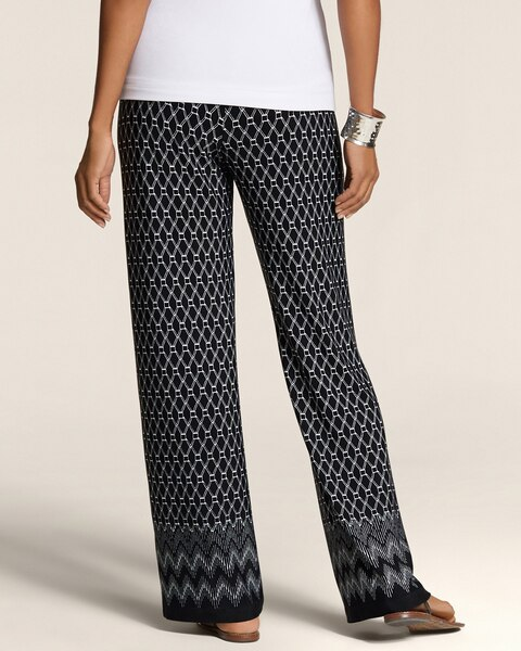 Graphic Border Fluid Pants