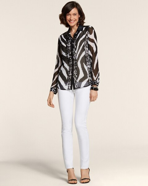 Zebra Block Zoey Shirt