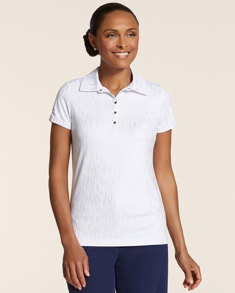 Dotted Foil Snap Polo
