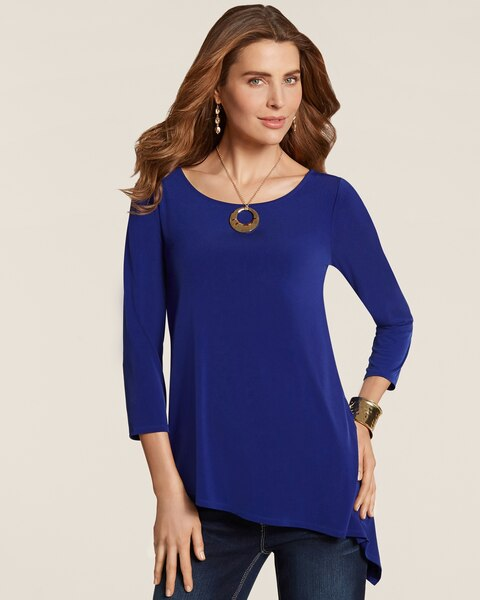 Andie Asymmetrical Hem Top