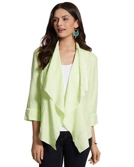 Drape Front High-Low Jacket