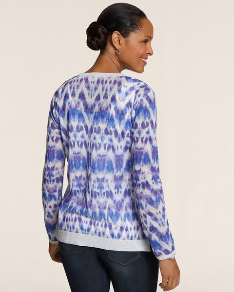 Abstract Ikat Hensley Cardigan