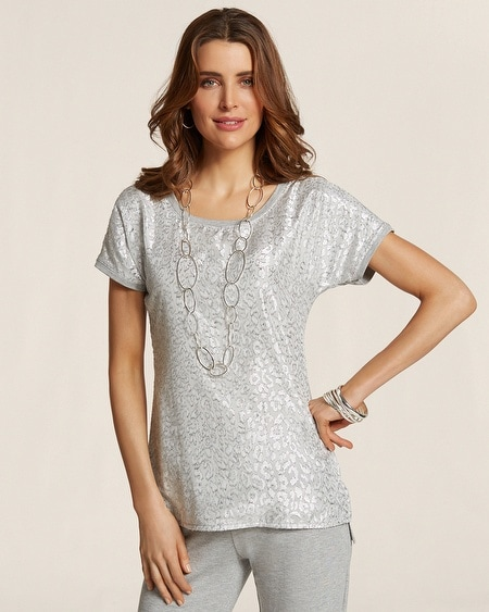 Jacquard Front Tee