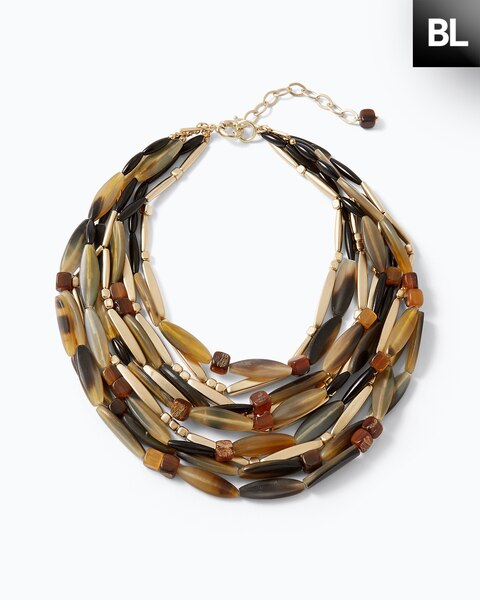 Horn Multi-Strand Necklace