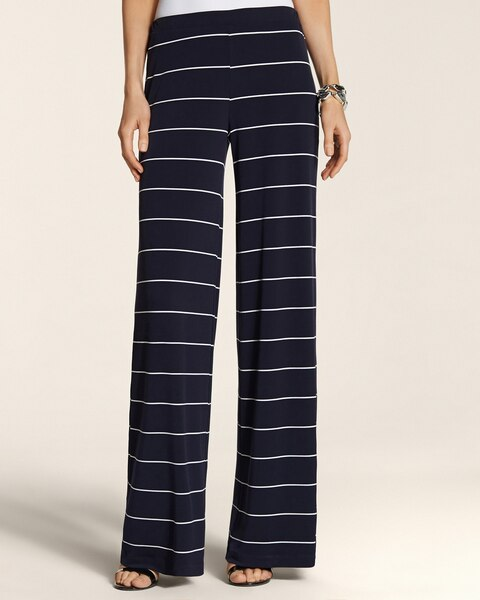 Knit Kit Small Stripe Palazzo Pants
