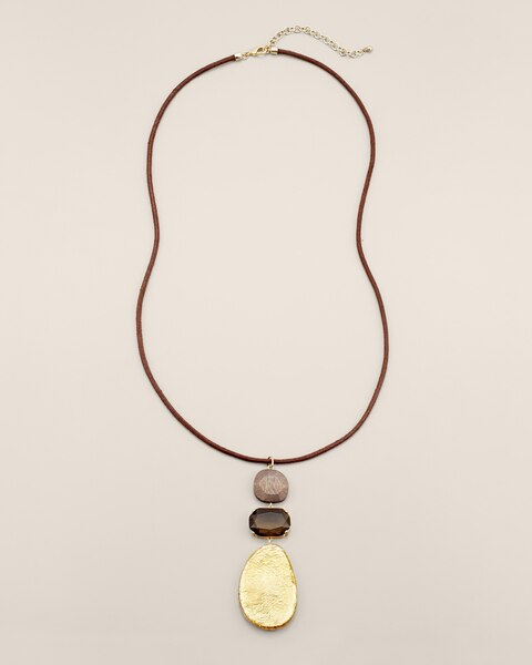 Tawny Long Pendant Necklace