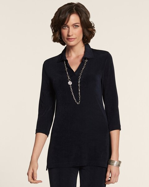 Henley V-Neck Tunic