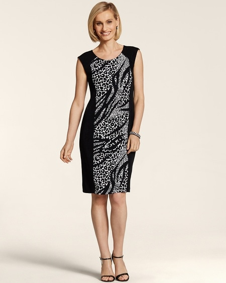 Mixed Animal Panel Dress