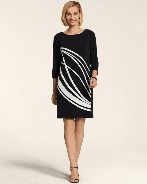 Abstract Palm Leah Dress