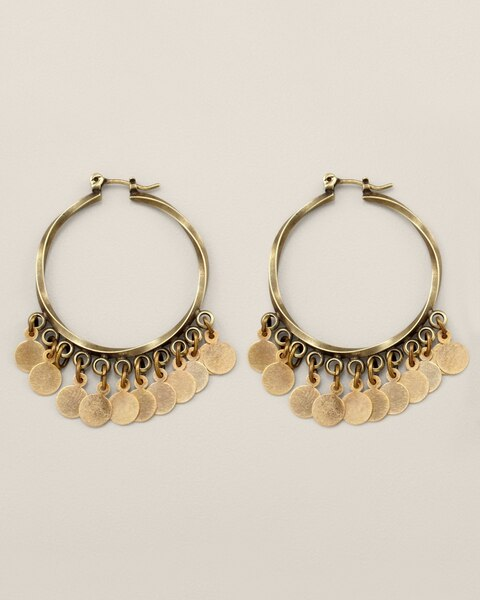Nala Gold Hoop Earrings