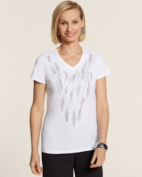 Placed Swirl Embellished Tee