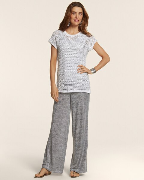 Knit Kit Silver Foil Pants