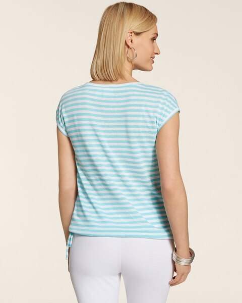 Vibrant Stripes Cece Spliced Top