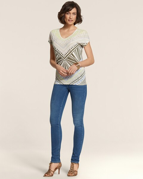 Platinum Denim Pieced Legging