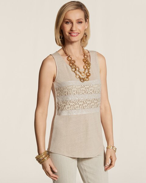 Delicate Lace High-Low Tank