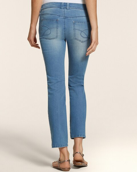 Platinum Denim Crop in Crystal Lake