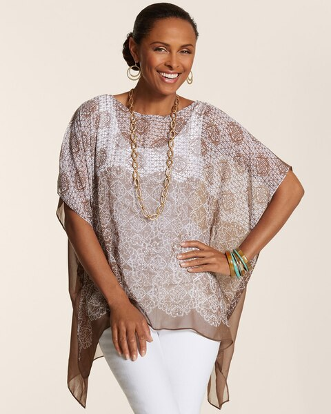 Crafted Eliza Maureen Scoop Poncho