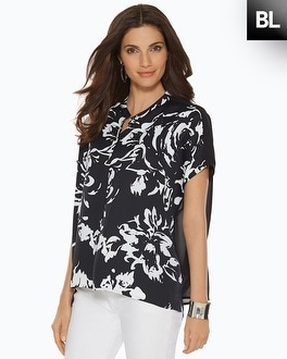 Black Label Exploded Floral Top