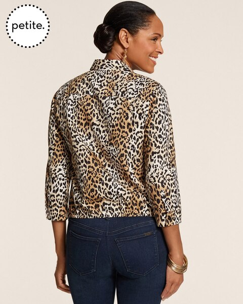 Petite Effortless Leopard Luxe Tyree II Top